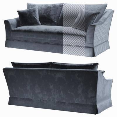 绒布沙发, 多人沙发, 现代