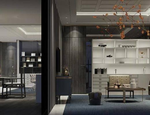 吊灯, 沙发组合, 电视柜, 茶几, 装饰画, 桌椅组合