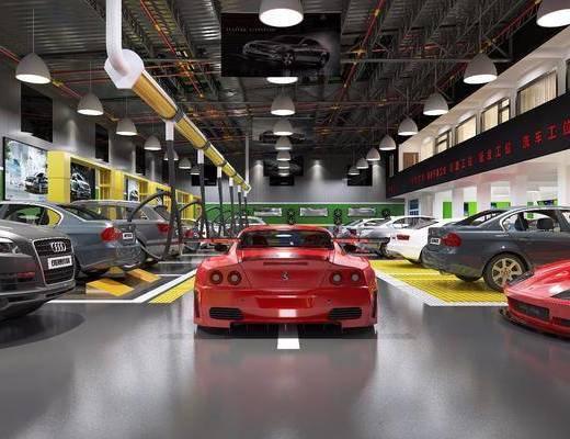 汽车维修, 汽车, 保养中心, 工业风