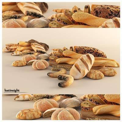 面包, 食物, 现代