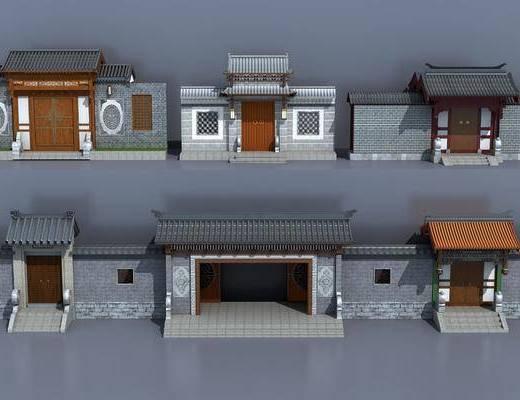 古建庭院, 门面门头, 中式
