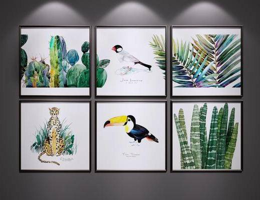 挂画, 花鸟装饰画, 艺术画, 装饰画