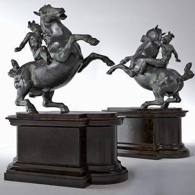 战马, 战马雕塑, 雕塑, 摆件, 陈设品, 现代