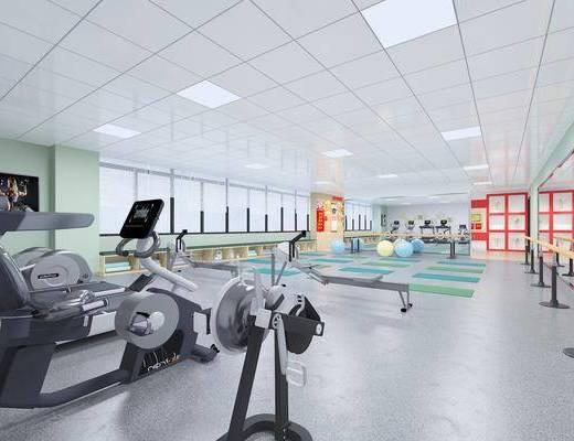 健身室, 运动器械, 荣誉室, 文化墙