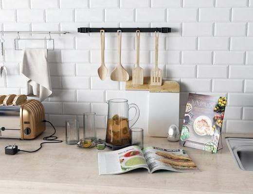玻璃杯, 面包机, 菜谱