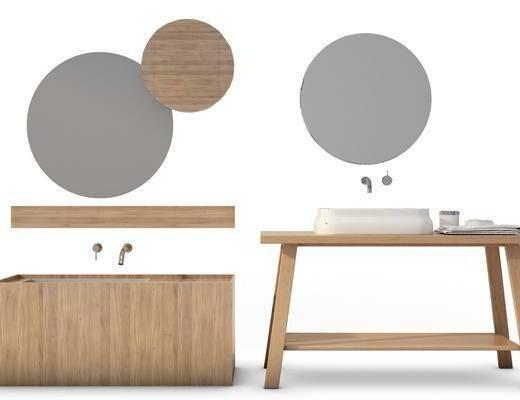 现代洗手台