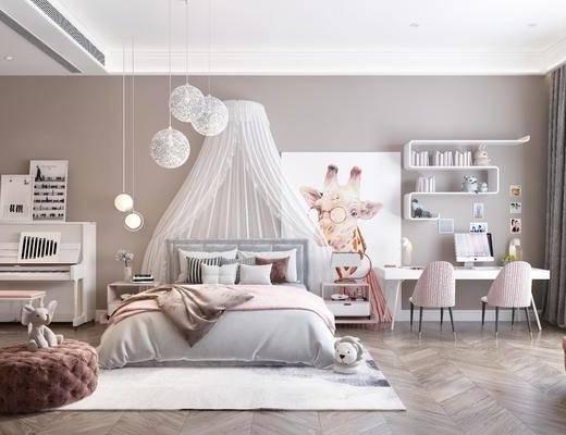 现代, 儿童房, 单人床