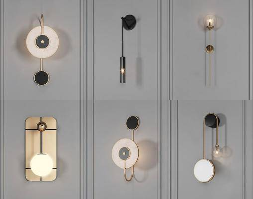 現代, 壁燈