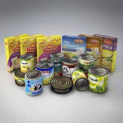 罐头, 食物, 现代