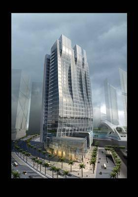 异形建筑, 玻璃幕建筑, 现代