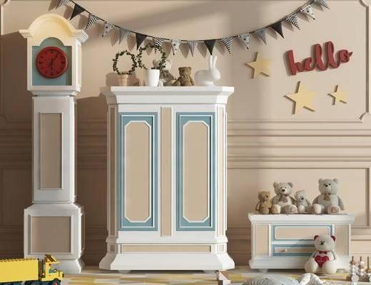 衣柜, 收纳柜, 现代, 简欧, 玩具, 玩偶, 儿童