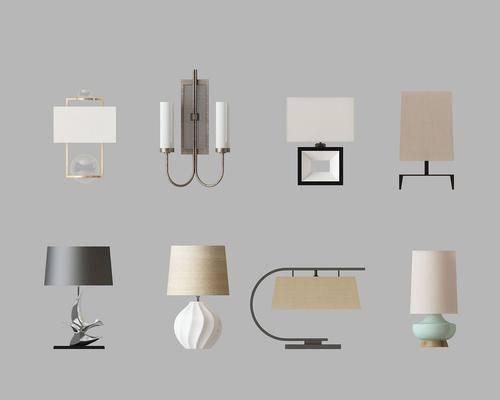 灯具组合, 台灯, 新中式