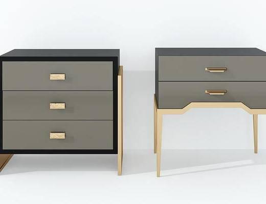 现代床头柜组合