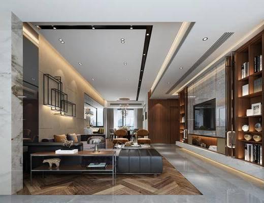 后现代, 客厅, 家装