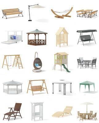 庭院, 家具, 凉亭, 公共椅, 户外椅, 摇椅, 现代