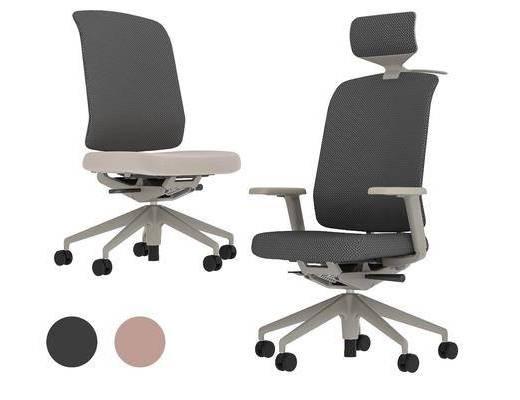 现代, 简约, 办公椅, 单体