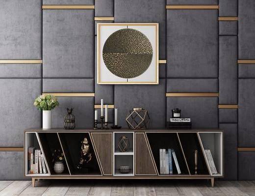 地柜, 电视柜, 装饰柜, 玄关柜, 餐边柜, 侧边柜, 边柜, 摆件, 装饰品, 陈设品, 现代