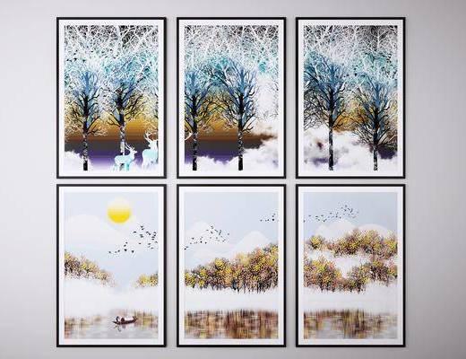 挂画, 装饰画, 艺术画, 风景画