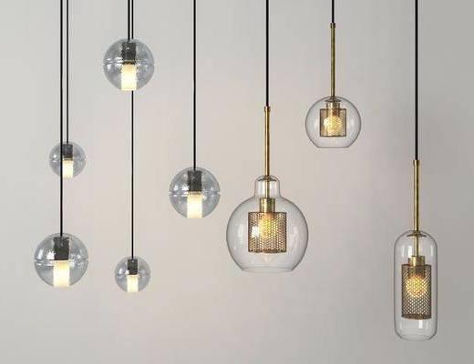 玻璃球吊灯, 吊灯, 现代