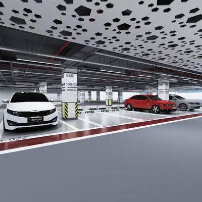 停车场, 车库, 底下车库, 汽车, 现代