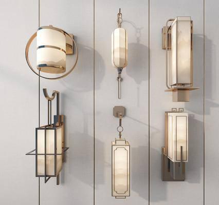 新中式壁灯, 新中式灯饰