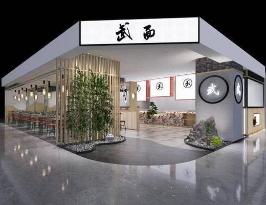餐厅, 新中式, 餐桌椅, 餐桌, 桌子, 椅子, 餐具, 吊灯