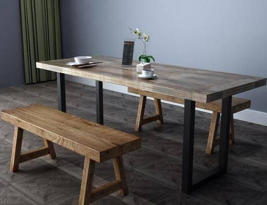 现代餐桌, 餐桌椅, 桌椅组合
