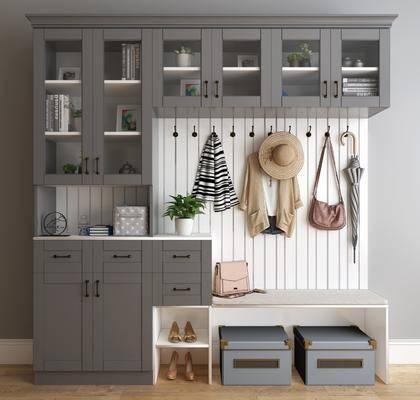 鞋柜, 装饰柜, 服饰, 摆件, 装饰品, 陈设品, 现代