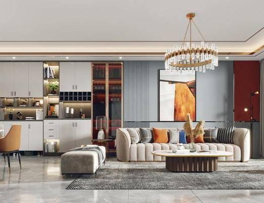 家装, 现代客厅餐厅