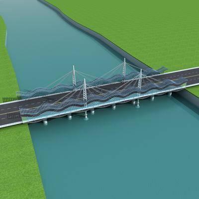大桥, 桥梁, 现代, 桥
