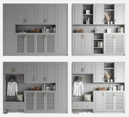 現代, 簡約, 鞋柜, 柜架