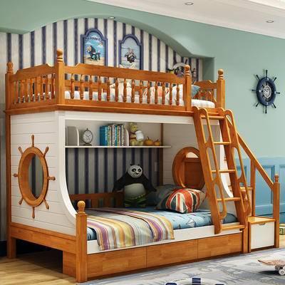 儿童床, 双层床, 床, 美式, 地中海