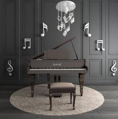 鋼琴, 音符, 樂器