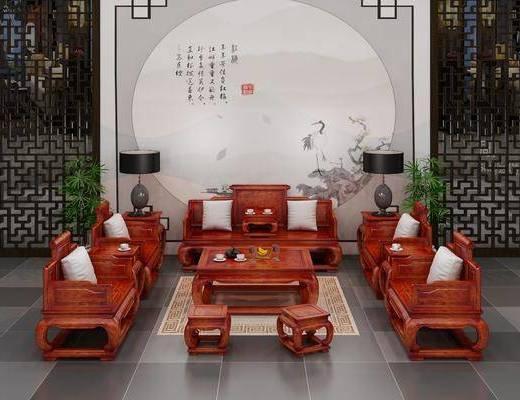 中式沙发, 沙发组合