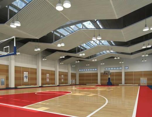 现代篮球场, 篮球场, 室内球场