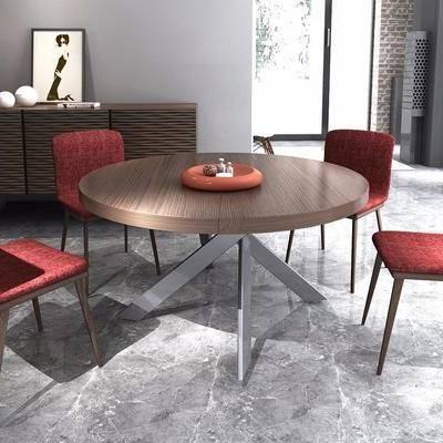 现代餐桌椅边柜组合, 现代, 餐桌椅, 餐边柜, 边柜, 椅子
