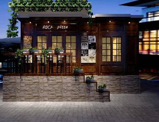 门面, 门头, 店铺, 咖啡厅