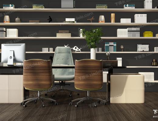 办公桌, 桌椅组合, 陈设品, 椅子, 办公椅