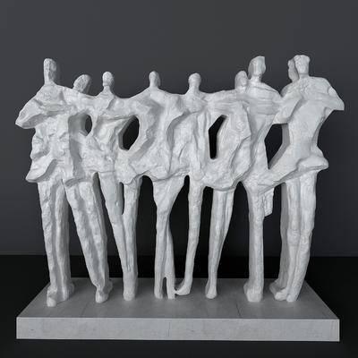 抽象人物, 雕塑雕刻, 摆件, 现代