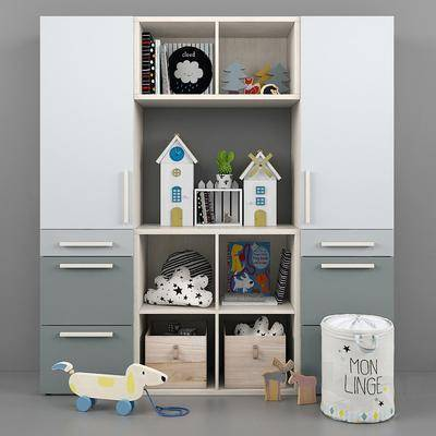 现代儿童置物柜