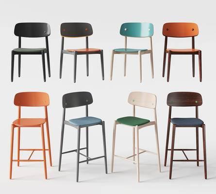 北欧, 单椅, 吧椅
