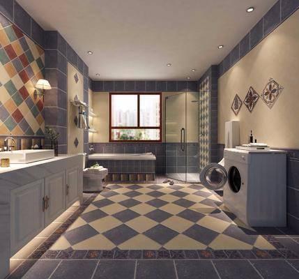 卫浴, 美式卫浴, 淋浴间, 坐厕, 卫浴小件, 美式
