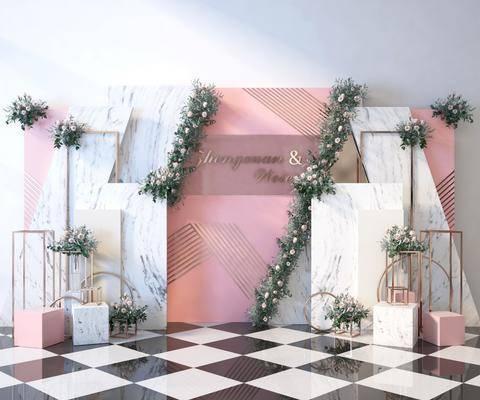 现代婚礼合影区