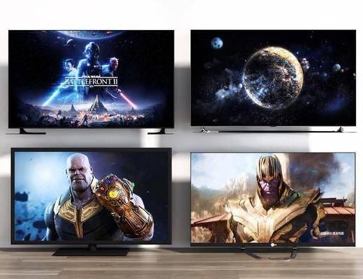 电视机, 屏幕, 电器