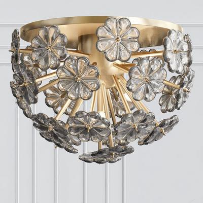 金属花朵吸顶灯, 现代吸顶灯