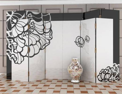 屏風, 隔斷, 花瓶