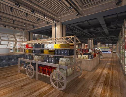 现代超市入口, 现代, 超市, 百货, 货架, 商品