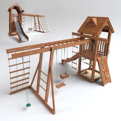 现代, 滑梯, 儿童滑梯, 滑梯组合, 秋千
