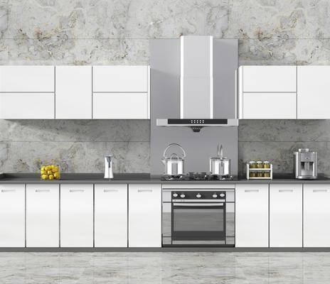 厨房, 橱柜, 厨具, 器具, 烤漆门板, 现代
