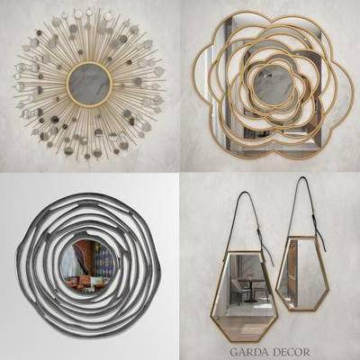 墙饰, 镜子, 太阳镜, 后现代, 镜, 现代